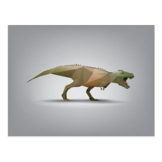 DigitalTyrannosaurus Rex polygonale abstrakte Postkarte