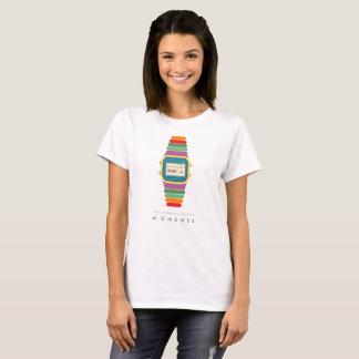 Digitaluhr-Pop-Kunst-T - Shirt der Zeit-  der