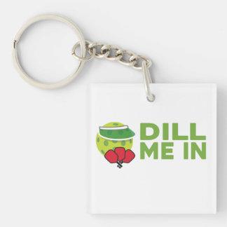 """""""Dill ich in"""" Pickleball Keychain Schlüsselanhänger"""