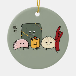 Dim Sum-Schweinefleisch Bao Shaomai chinesisches Keramik Ornament