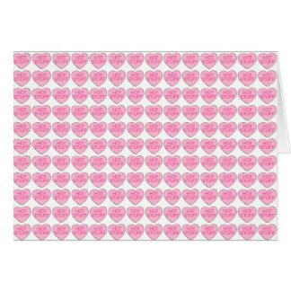 Dinges-rosa Süßigkeits-Herz-Valentinstag-Karte Karte