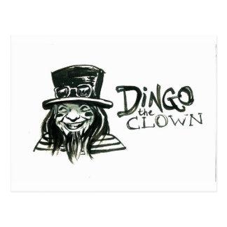 Dingo Dizmal Porträt getan von Kevin Reynolds Postkarte