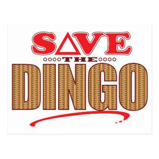 Dingo retten postkarte