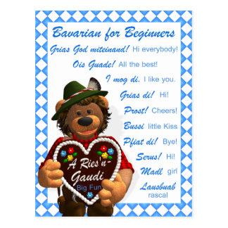Dinky Bären bayerisch für Anfänger Postkarte