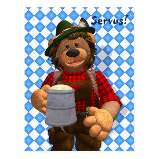 Dinky Bären bayerischer Oktoberfest Bär Postkarte