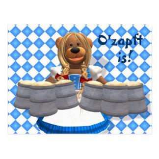 Dinky Bären bayerisches Oktoberfest Zenzi Postkarte