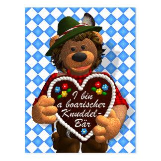 Dinky Bärn-bayerischer Umarmungs-Bär Postkarten
