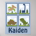 Dino/dinosaures adorables a personnalisé l'affiche
