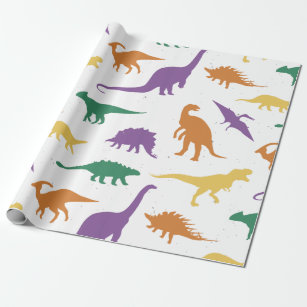 Lustige Dino Kinder Geschenkpapiere Zazzlech