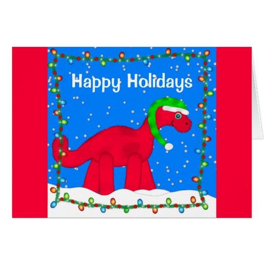Dino-Feiertags-Gruß-Karte Grußkarte