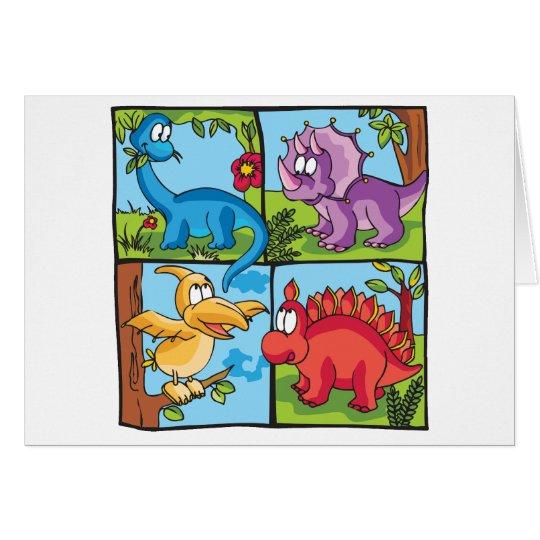 Dino-Freunde Karte