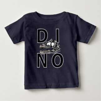 DINO - Marine-blaues Baby-Geldstrafe-Jersey-T - Baby T-shirt