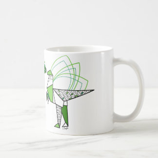 Dino origami kaffeetasse