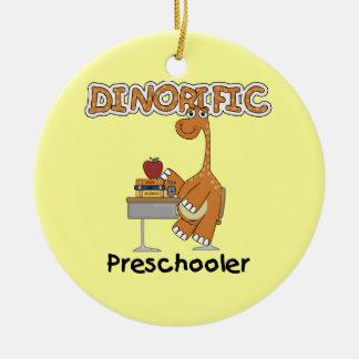 Dinorific Vorschüler-T - Shirts und Geschenke Rundes Keramik Ornament