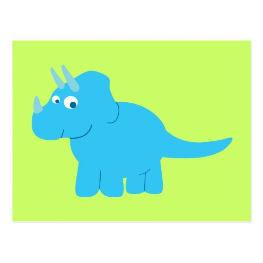Dinosaure bleu de Triceratops Cartes Postales