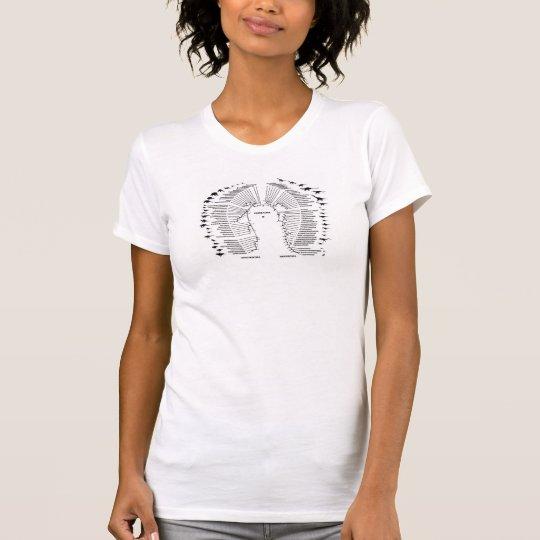 Dinosauria wissenschaftliche Zahl T-Shirt