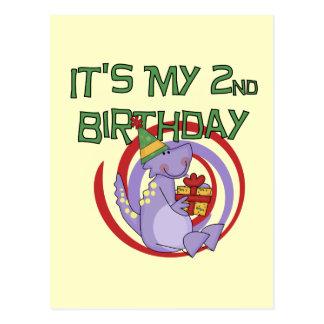Dinosaurier-2. Geburtstags-T-Shirts und Geschenke Postkarte