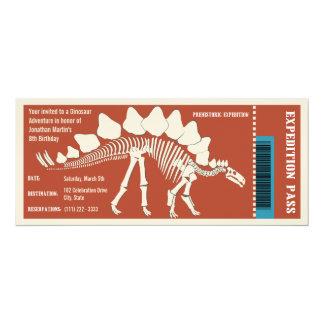 Dinosaurier-Abenteuer-Durchlauf 10,2 X 23,5 Cm Einladungskarte