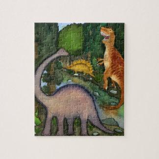 Dinosaurier am Nebenfluss-Puzzlespiel