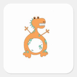Dinosaurier-Aufkleber Quadratischer Aufkleber