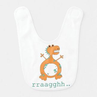 Dinosaurier-Baby-Schellfisch Babylätzchen