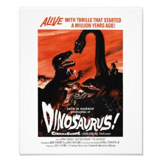 Dinosaurier, Dino, Saurus Vintages Retro Kino Fotodruck