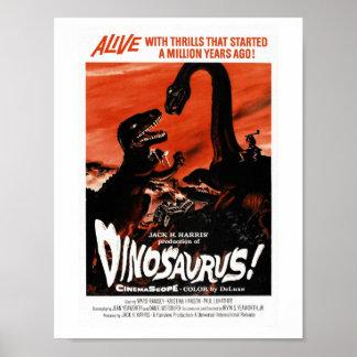 Dinosaurier, Dino, Saurus Vintages Retro Kino Poster