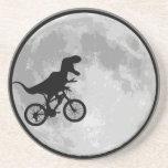 Dinosaurier-Fahrrad u. Mond Untersetzer