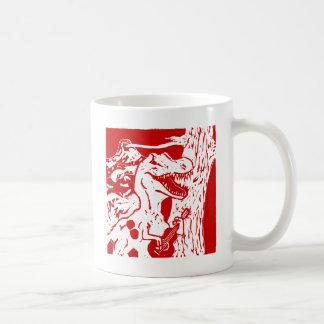 Dinosaurier-Felsen Kaffeetasse