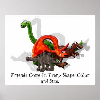 Dinosaurier-Freundschafts-Plakat