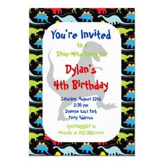 Dinosaurier-Geburtstags-Party Einladungen T Rex
