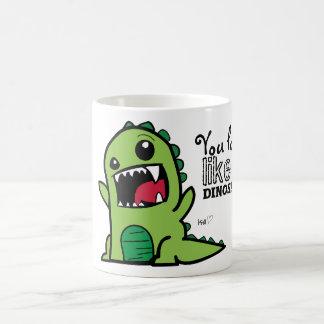 Dinosaurier-Gesicht Kaffeetasse