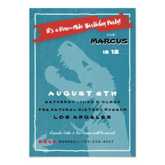 Dinosaurier-Kindergeburtstag-Party Einladung T Rex