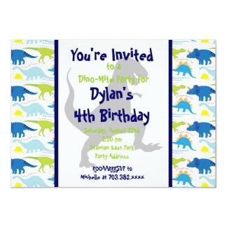 Dinosaurier-Kindergeburtstag-Party Einladungen T