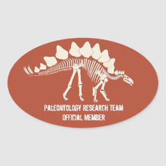 Dinosaurier-Knochen-Paläontologie-kundengerechtes Ovaler Aufkleber
