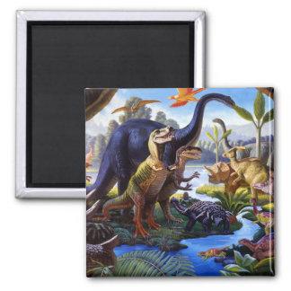 Dinosaurier-Magnet Quadratischer Magnet