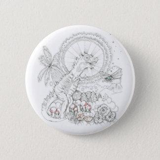Dinosaurier Runder Button 5,1 Cm