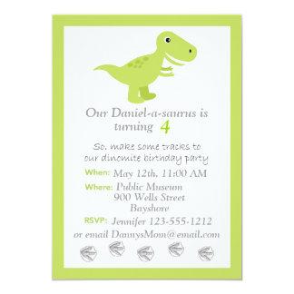 Dinosaurier T-rex Kindergeburtstageinladung Karte