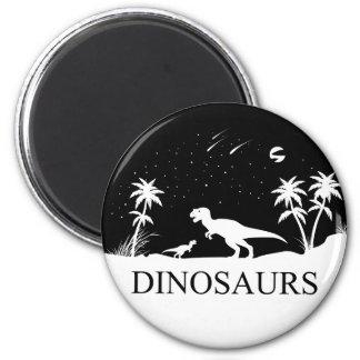 Dinosaurier unter den Sternen Runder Magnet 5,7 Cm