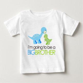Dinosaurier werde ich ein großer Bruder sein Baby T-shirt