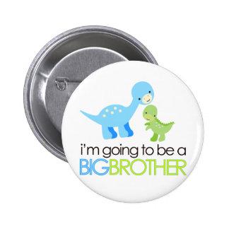 Dinosaurier werde ich ein großer Bruder sein Runder Button 5,7 Cm