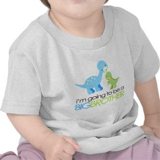 Dinosaurier werde ich ein großer Bruder sein Hemd