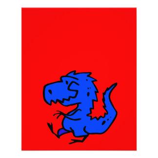 Dinosaurierdino-Dinosaurier Ani der Tiere Flyer Druck
