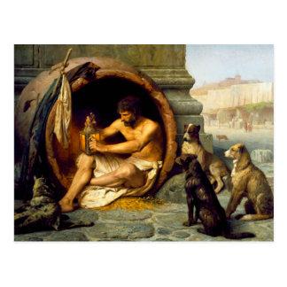 Diogenes durch Jean-Leon Gerome Postkarte