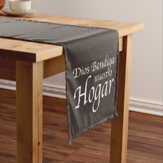 Dios Bendiga Nuestro Hogar: Weiß Kurzer Tischläufer