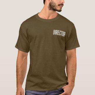 Direktor klassisches grundlegendes T.Shirt (Braun) T-Shirt