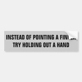 Dirigeant des doigts ou donner votre main ? autocollant de voiture