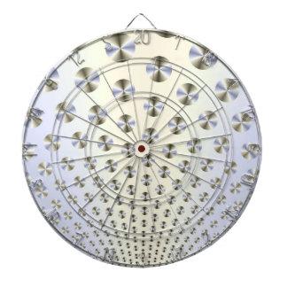 Disc im weißen und blauen Dartboard Dartscheibe