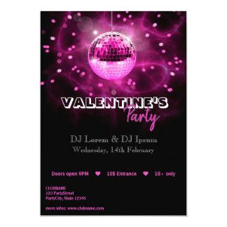Disco-Ball des Valentines Tages- Party Einladung