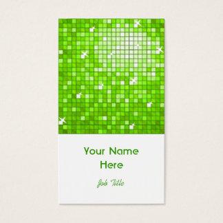 Disco deckt grünes Visitenkarteweißporträt mit Visitenkarte